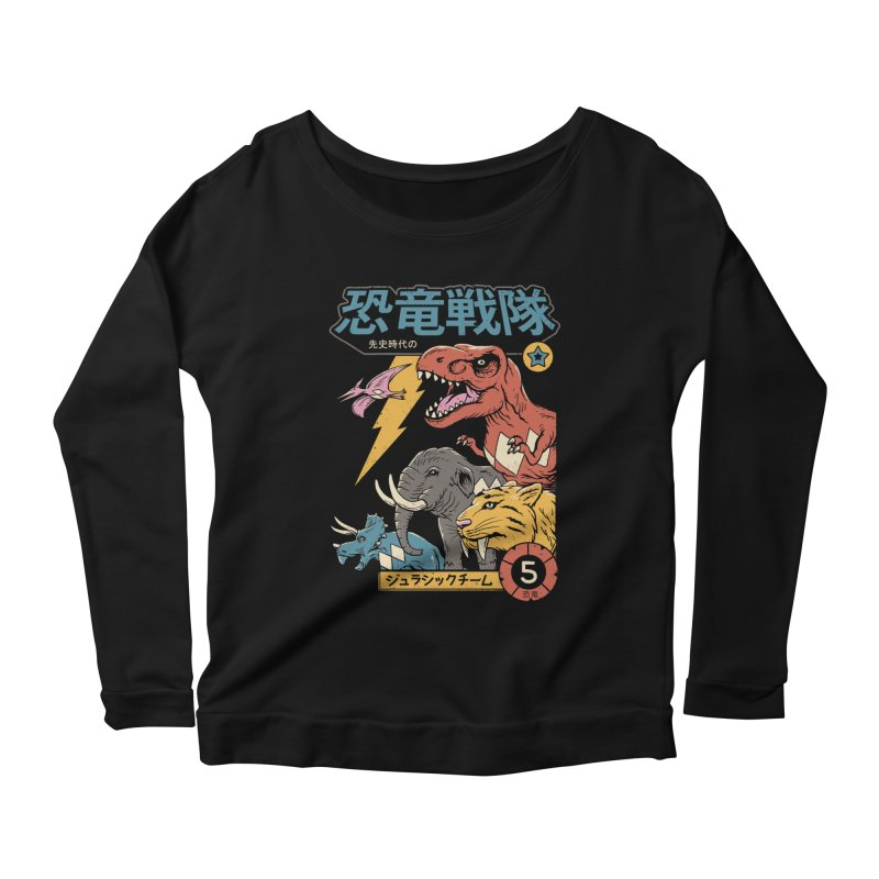 Dino Sentai Women's Scoop Neck Longsleeve T-Shirt by Vincent Trinidad