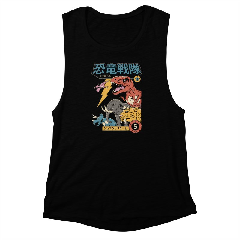 Dino Sentai Women's Muscle Tank by Vincent Trinidad