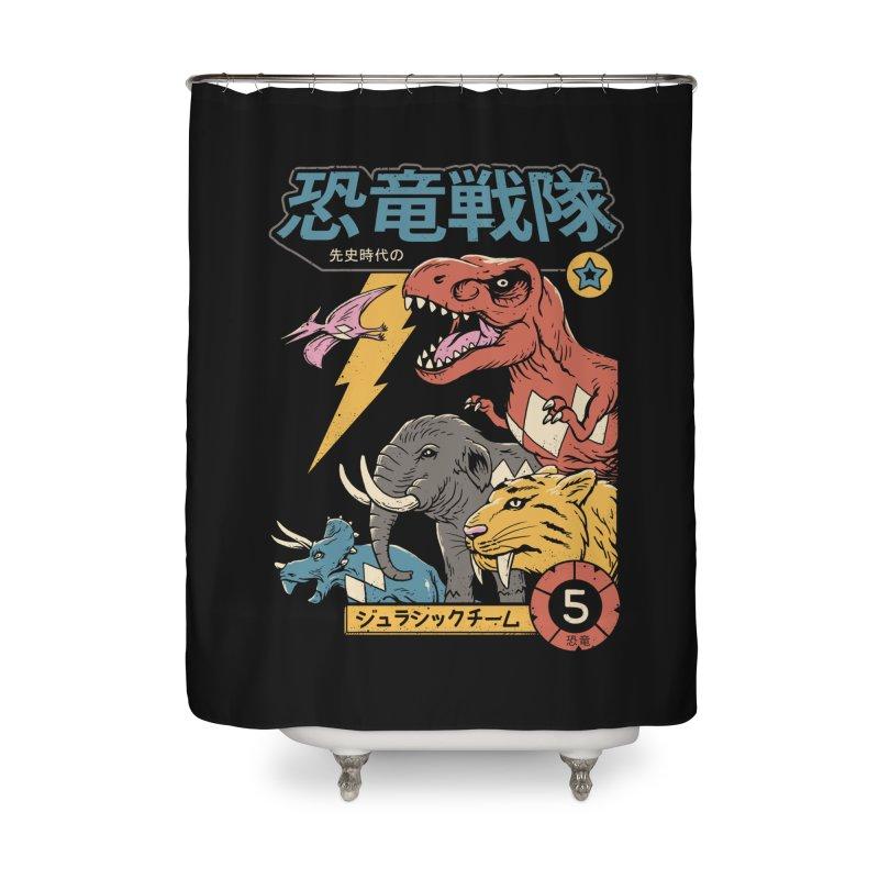 Dino Sentai Home Shower Curtain by vincenttrinidad's Artist Shop
