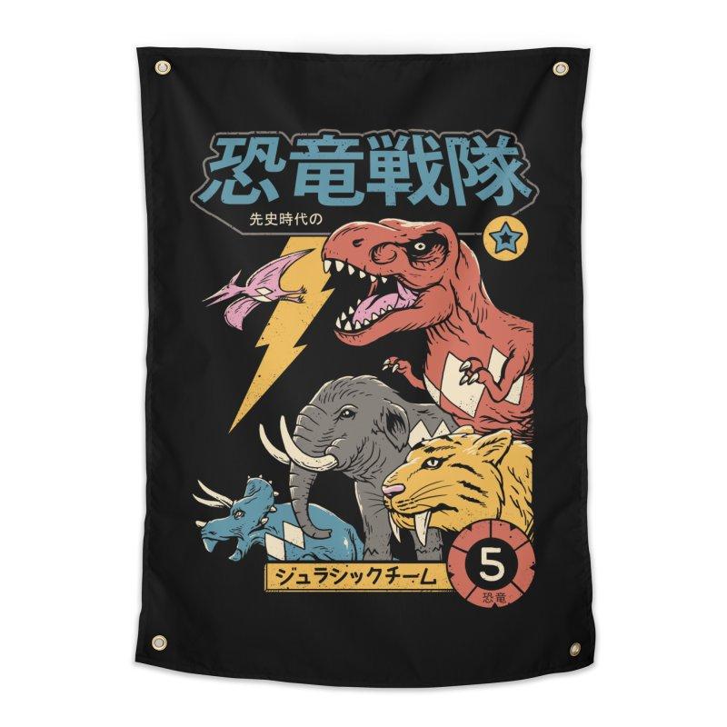 Dino Sentai Home Tapestry by Vincent Trinidad
