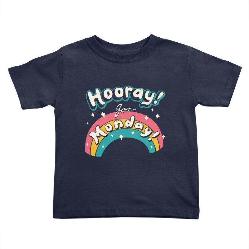 Sarcastic Mondays Kids Toddler T-Shirt by Vincent Trinidad