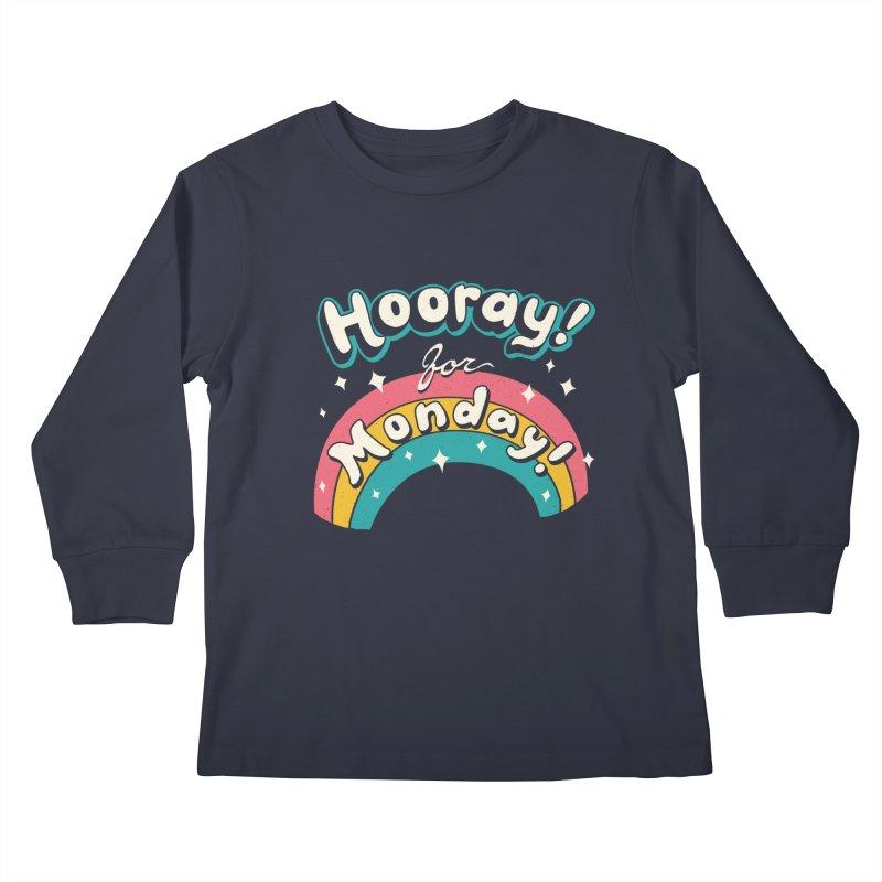 Sarcastic Mondays Kids Longsleeve T-Shirt by Vincent Trinidad