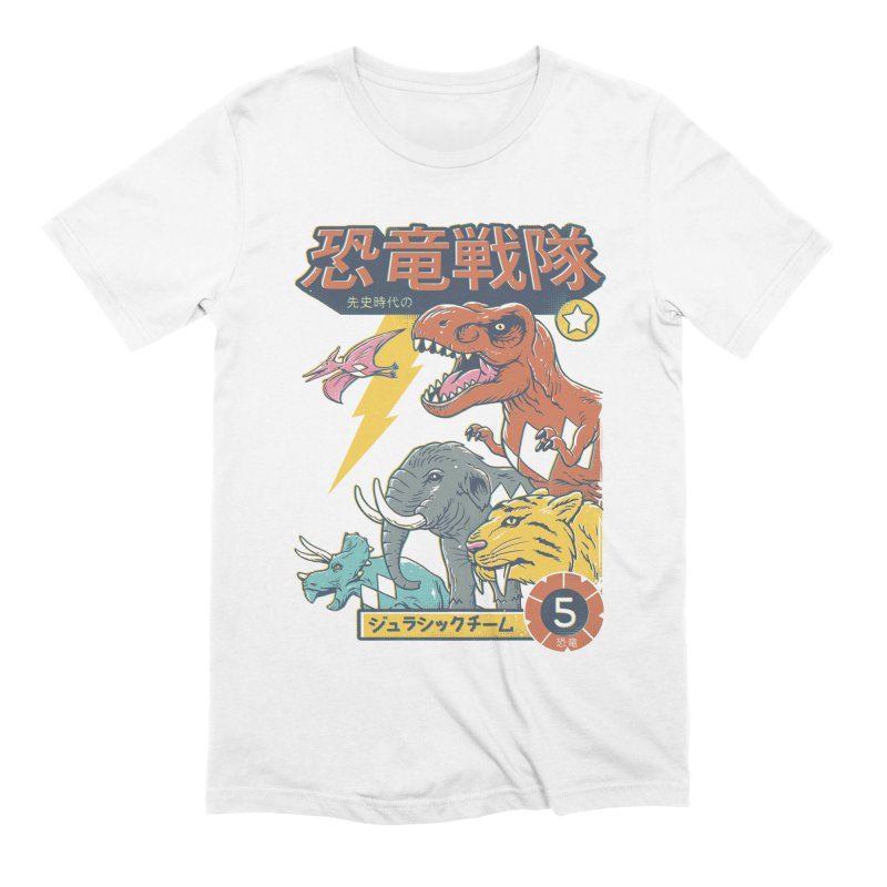 Dino Sentai Squad Men's Extra Soft T-Shirt by Vincent Trinidad