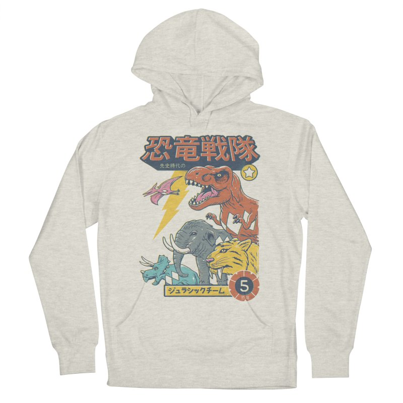 Dino Sentai Squad Men's French Terry Pullover Hoody by Vincent Trinidad