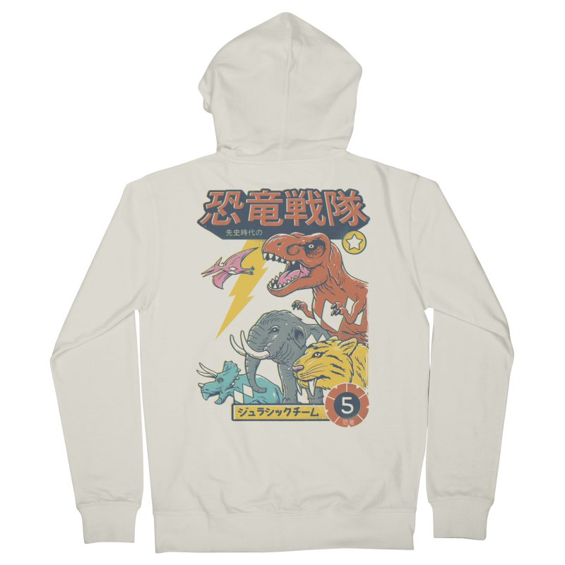 Dino Sentai Squad Men's French Terry Zip-Up Hoody by Vincent Trinidad