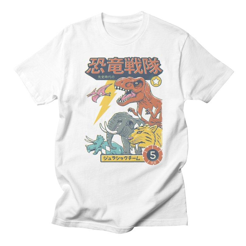 Dino Sentai Squad Men's Regular T-Shirt by Vincent Trinidad