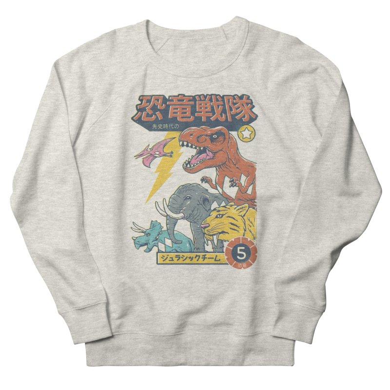 Dino Sentai Squad Men's French Terry Sweatshirt by Vincent Trinidad