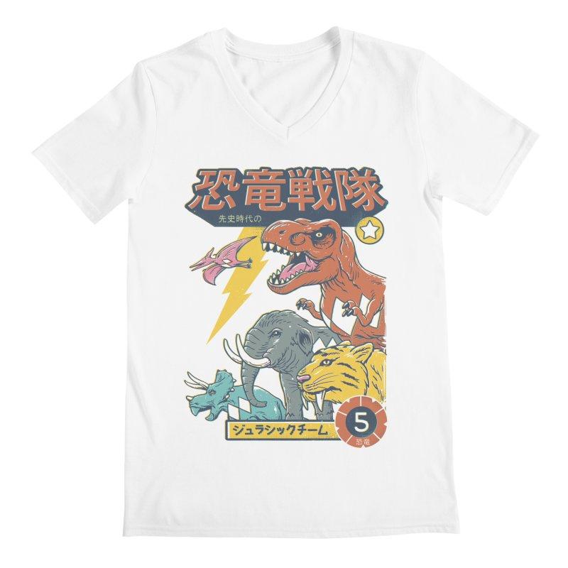 Dino Sentai Squad Men's Regular V-Neck by Vincent Trinidad