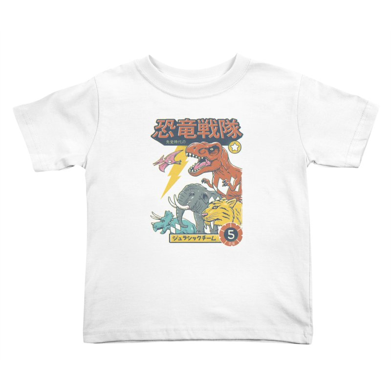 Dino Sentai Squad Kids Toddler T-Shirt by Vincent Trinidad