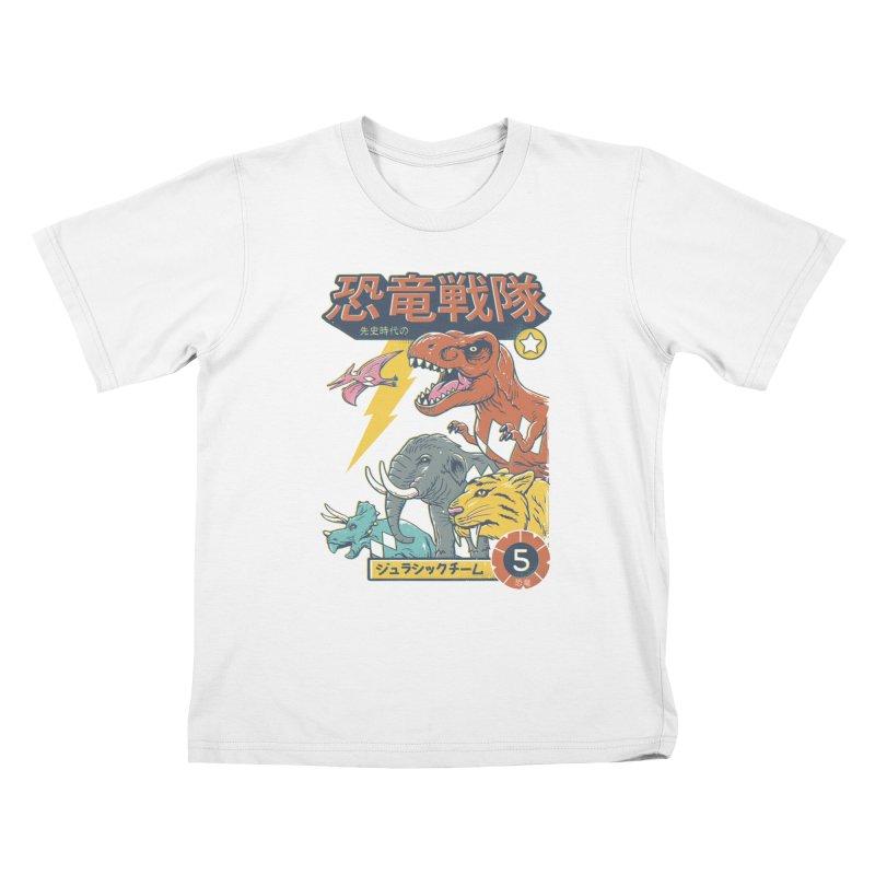 Dino Sentai Squad Kids T-Shirt by Vincent Trinidad