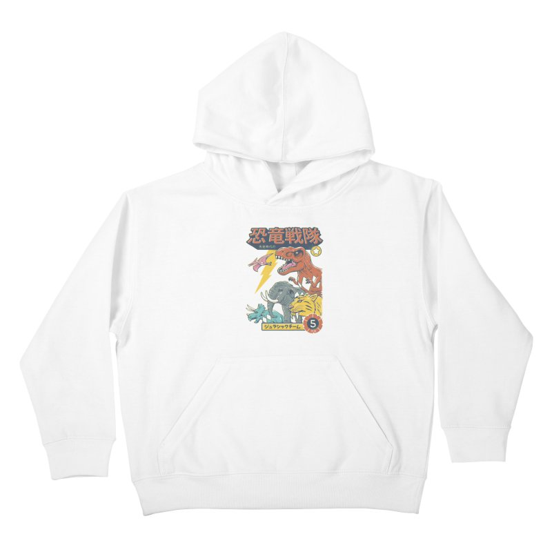 Dino Sentai Squad Kids Pullover Hoody by Vincent Trinidad
