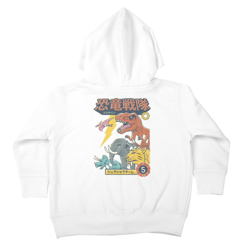 Dino Sentai Squad Kids Toddler Zip-Up Hoody by Vincent Trinidad