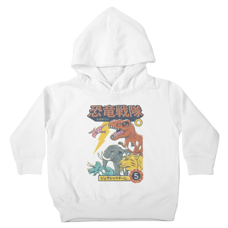 Dino Sentai Squad Kids Toddler Pullover Hoody by Vincent Trinidad