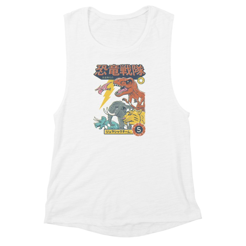 Dino Sentai Squad Women's Muscle Tank by Vincent Trinidad