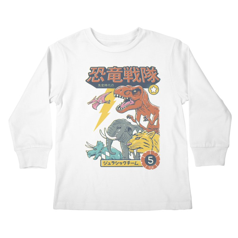 Dino Sentai Squad Kids Longsleeve T-Shirt by Vincent Trinidad