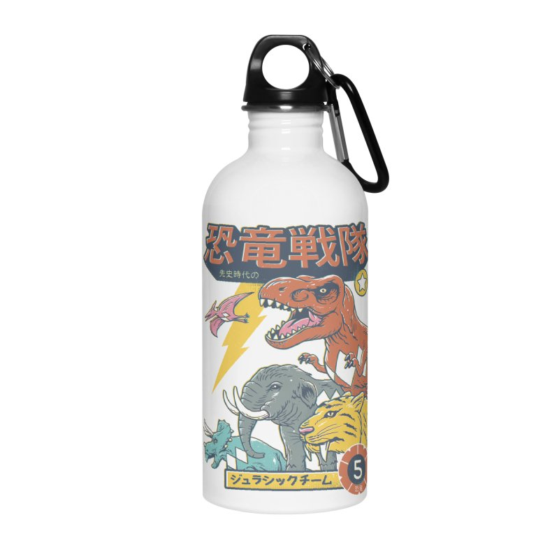 Dino Sentai Squad Accessories Water Bottle by Vincent Trinidad