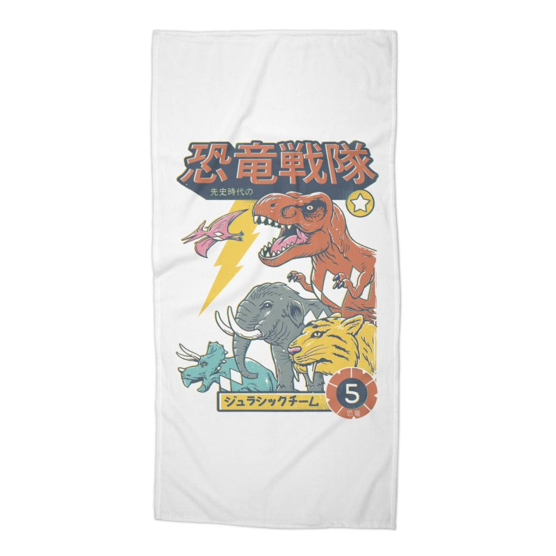 Dino Sentai Squad Accessories Beach Towel by Vincent Trinidad