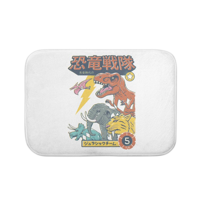 Dino Sentai Squad Home Bath Mat by Vincent Trinidad