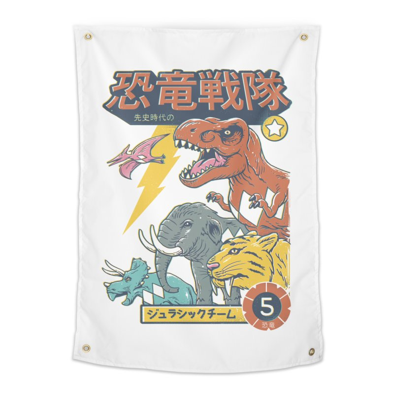 Dino Sentai Squad Home Tapestry by Vincent Trinidad