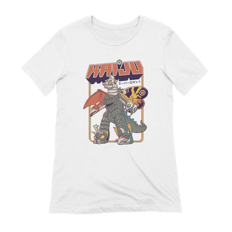 Super Kaiju Robot Women's Extra Soft T-Shirt by Vincent Trinidad