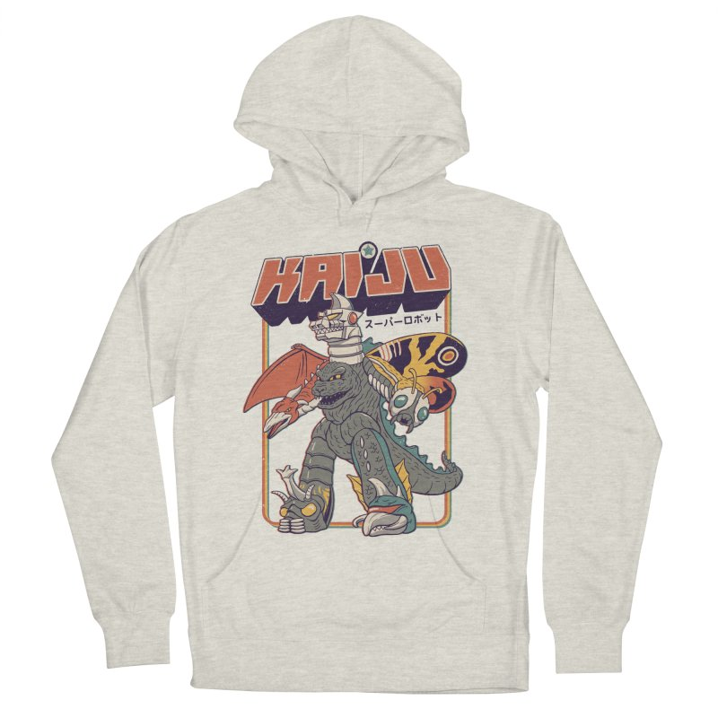 Super Kaiju Robot Men's French Terry Pullover Hoody by Vincent Trinidad