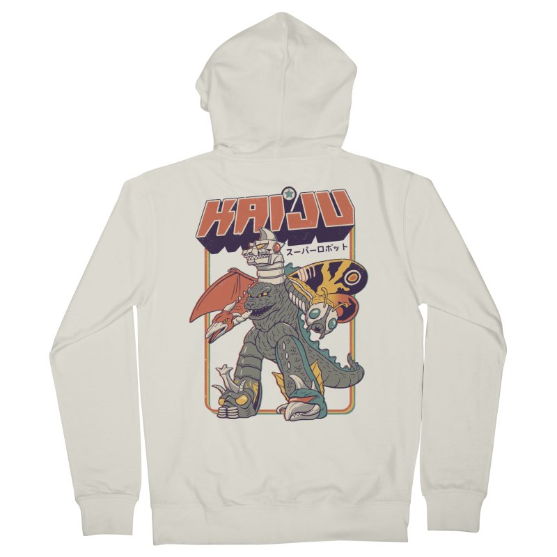 Super Kaiju Robot Men's French Terry Zip-Up Hoody by Vincent Trinidad Art