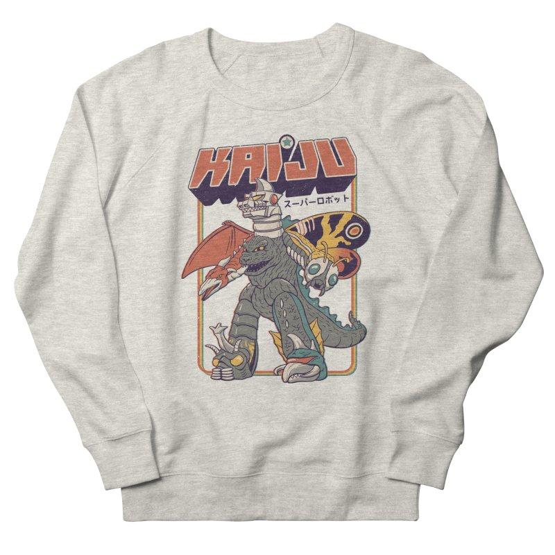 Super Kaiju Robot Women's French Terry Sweatshirt by Vincent Trinidad