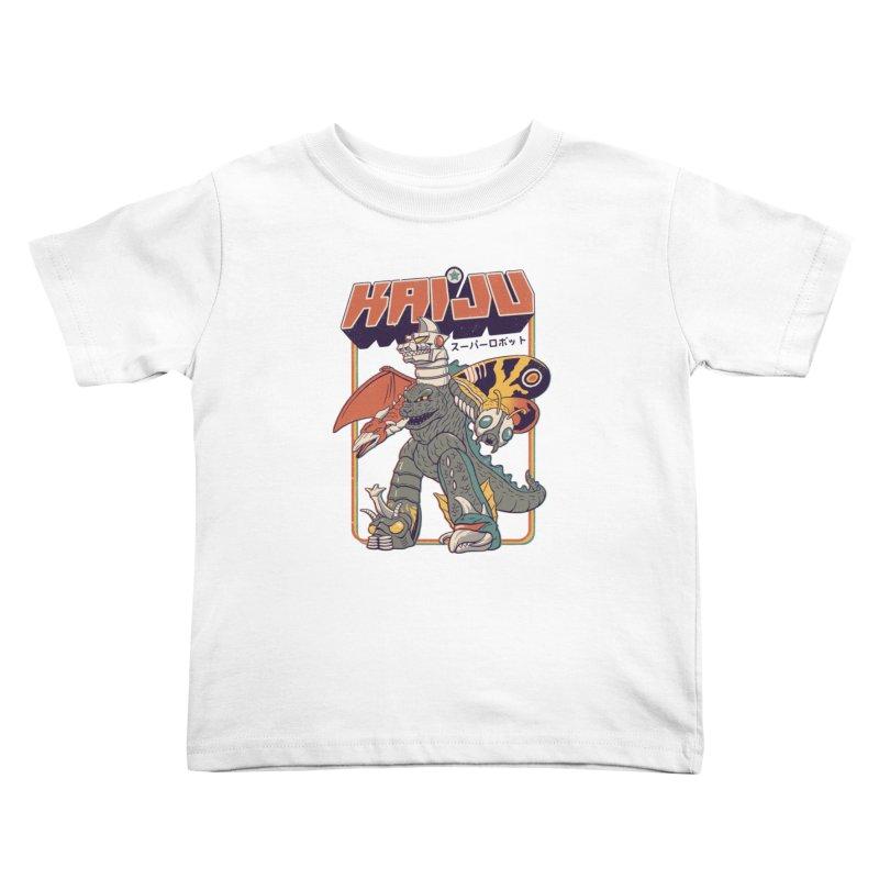 Super Kaiju Robot Kids Toddler T-Shirt by Vincent Trinidad