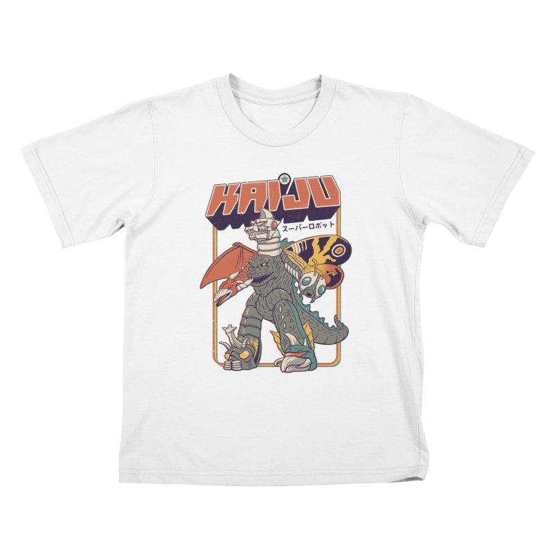 Super Kaiju Robot Kids T-Shirt by Vincent Trinidad
