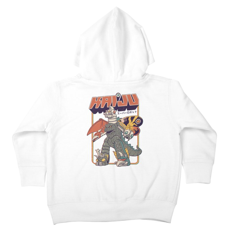 Super Kaiju Robot Kids Toddler Zip-Up Hoody by Vincent Trinidad