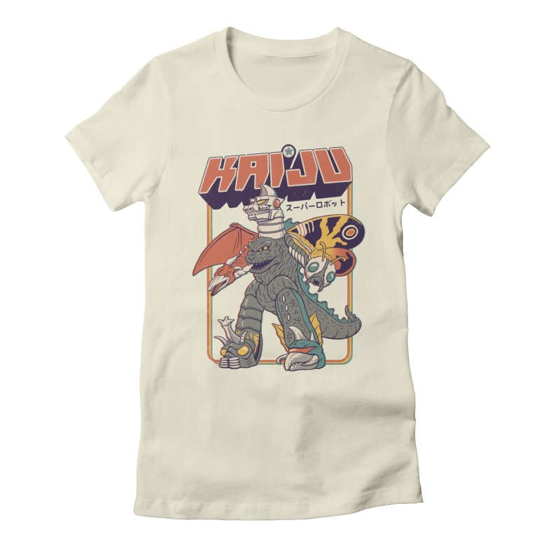 Super Kaiju Robot Women's Fitted T-Shirt by Vincent Trinidad