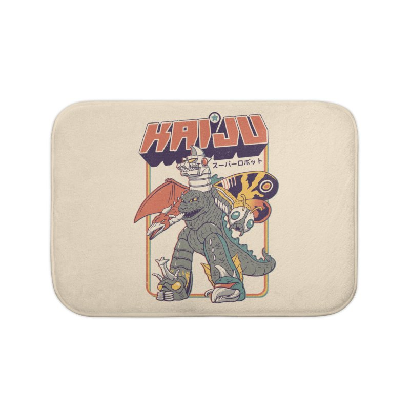 Super Kaiju Robot Home Bath Mat by Vincent Trinidad
