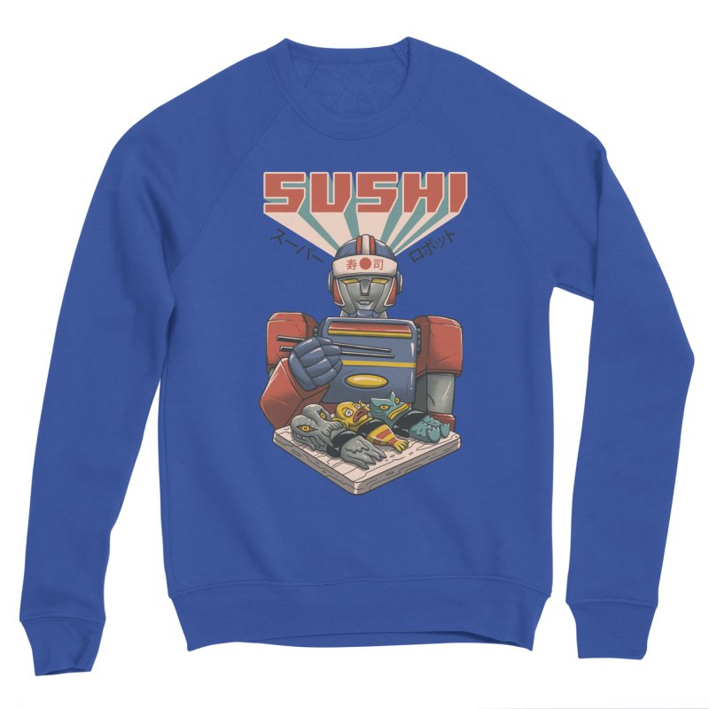 Super Sushi Robot Women's Sponge Fleece Sweatshirt by Vincent Trinidad