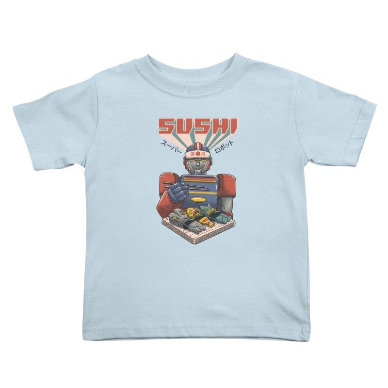 Super Sushi Robot Kids Toddler T-Shirt by Vincent Trinidad
