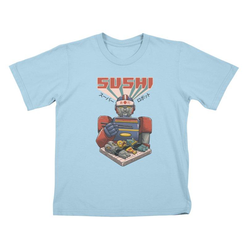 Super Sushi Robot Kids T-Shirt by Vincent Trinidad