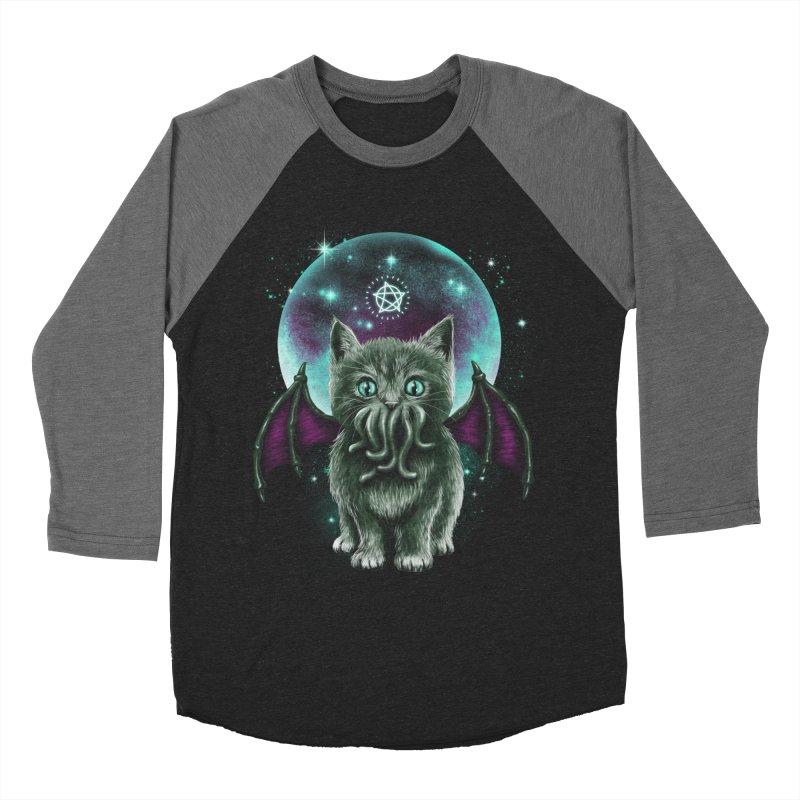 Cosmic Purrrcraft Men's Baseball Triblend T-Shirt by vincenttrinidad's Artist Shop