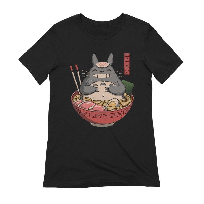 Neighbor'r Ramen Women's Extra Soft T-Shirt by Vincent Trinidad