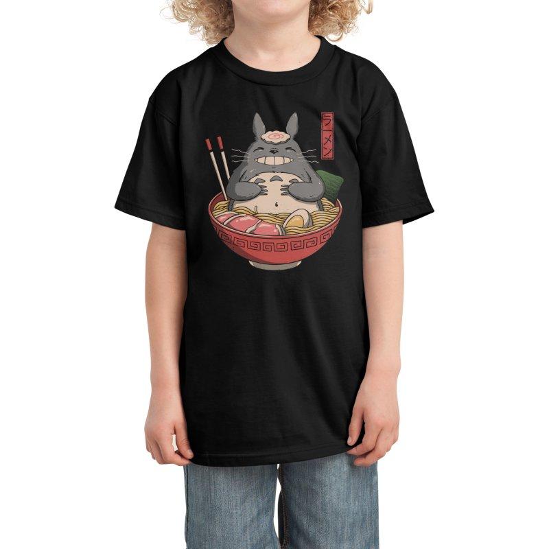 Neighbor's Ramen Kids T-Shirt by Vincent Trinidad Art