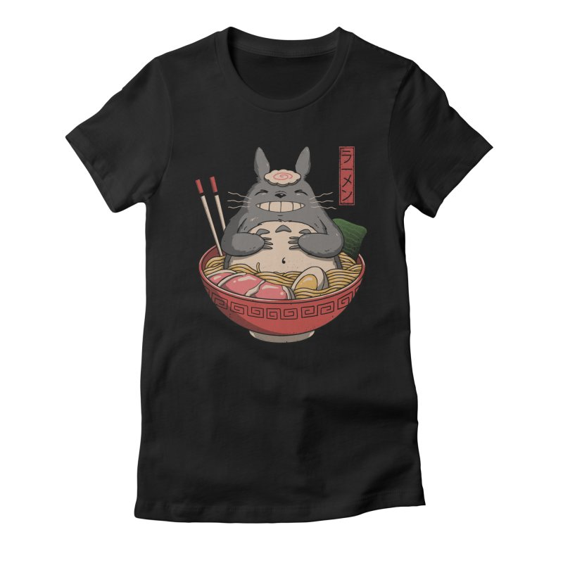 Neighbor'r Ramen Women's Fitted T-Shirt by Vincent Trinidad