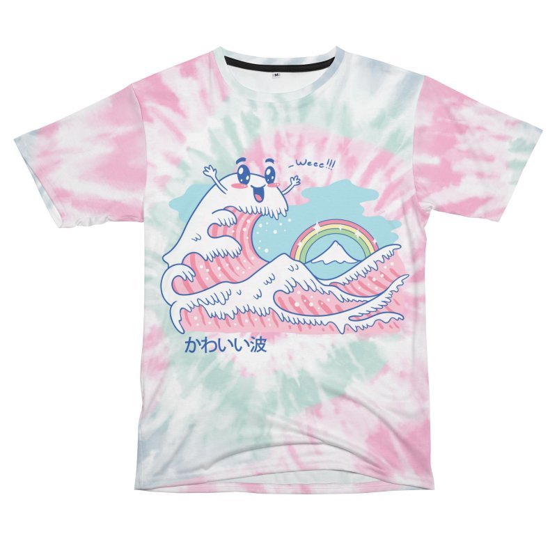 The Great Kawaii Wave Men's Cut & Sew by Vincent Trinidad Art
