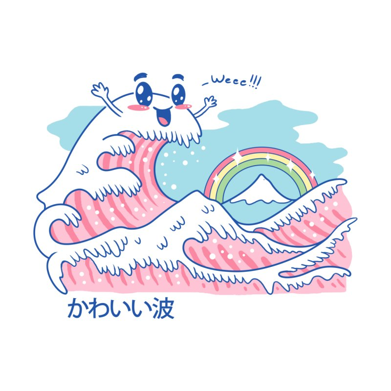 The Great Kawaii Wave by Vincent Trinidad Art