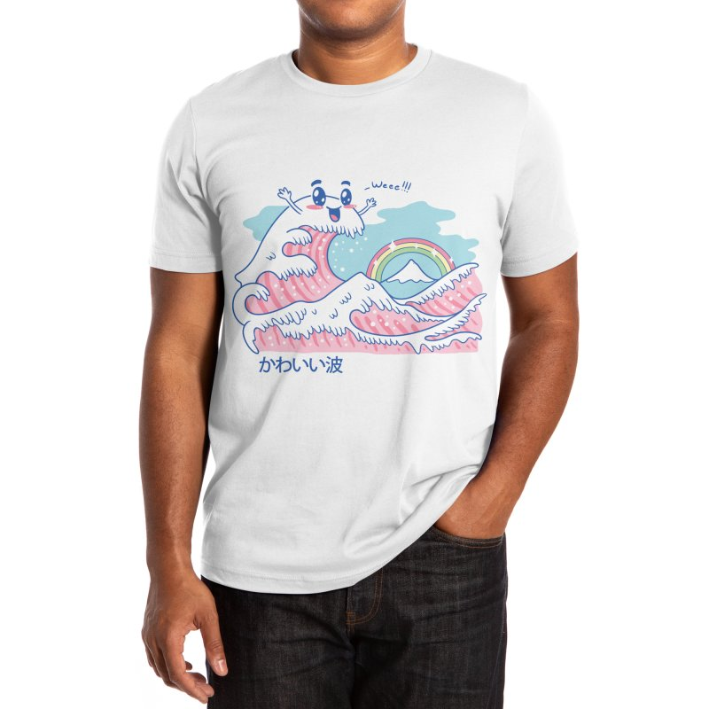 The Great Kawaii Wave Men's T-Shirt by Vincent Trinidad Art