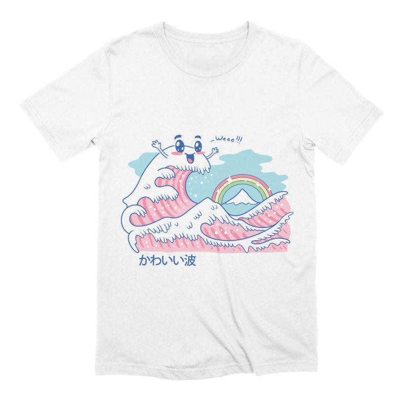 The Great Kawaii Wave Men's Extra Soft T-Shirt by Vincent Trinidad