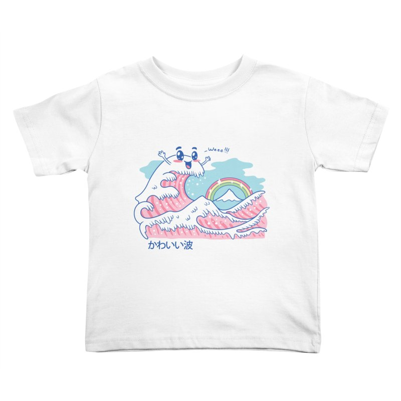 The Great Kawaii Wave Kids Toddler T-Shirt by Vincent Trinidad