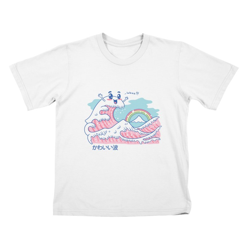 The Great Kawaii Wave Kids T-Shirt by Vincent Trinidad