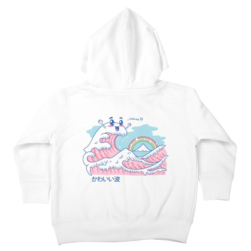 The Great Kawaii Wave Kids Toddler Zip-Up Hoody by Vincent Trinidad