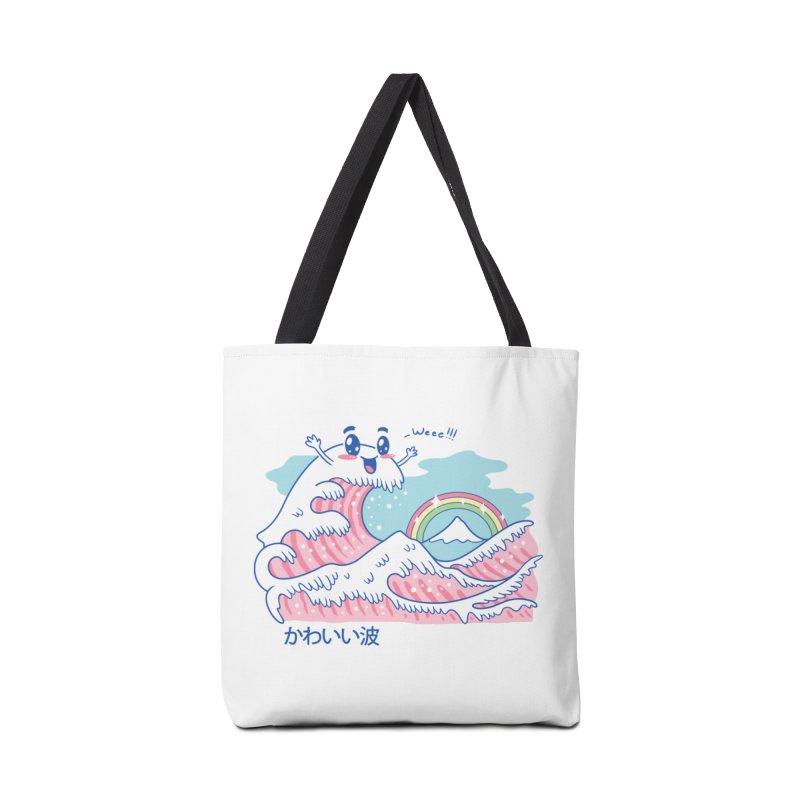The Great Kawaii Wave Accessories Bag by Vincent Trinidad Art