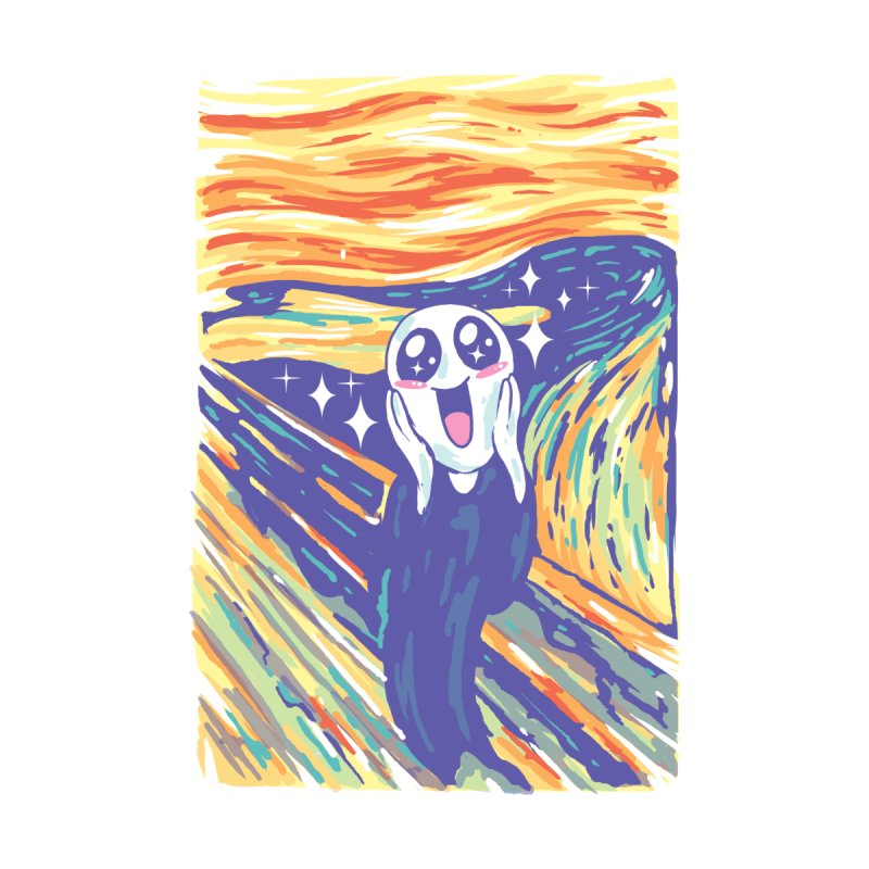 Kawaii Scream Accessories Bag by Vincent Trinidad Art