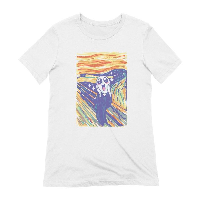 Kawaii Scream Women's Extra Soft T-Shirt by Vincent Trinidad