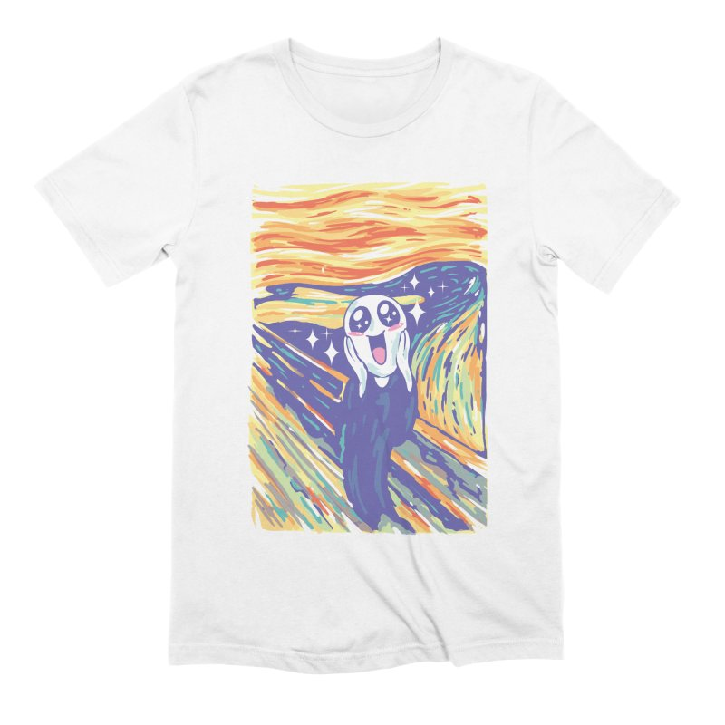 Kawaii Scream Men's Extra Soft T-Shirt by Vincent Trinidad